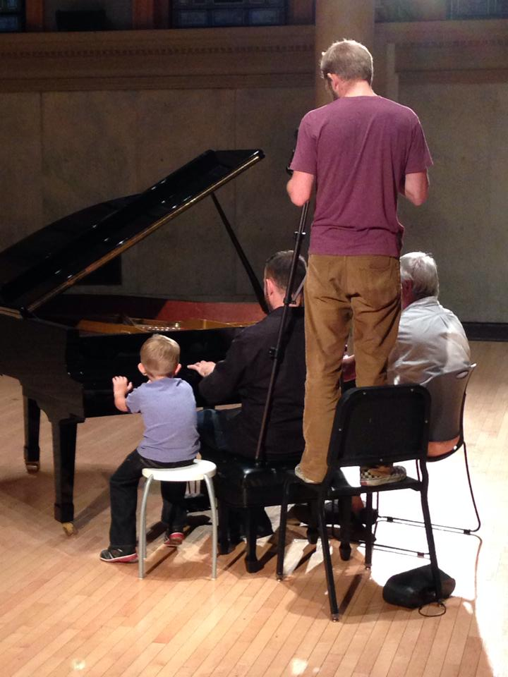 Blake Drummond captures Asher, Don and me at the piano.