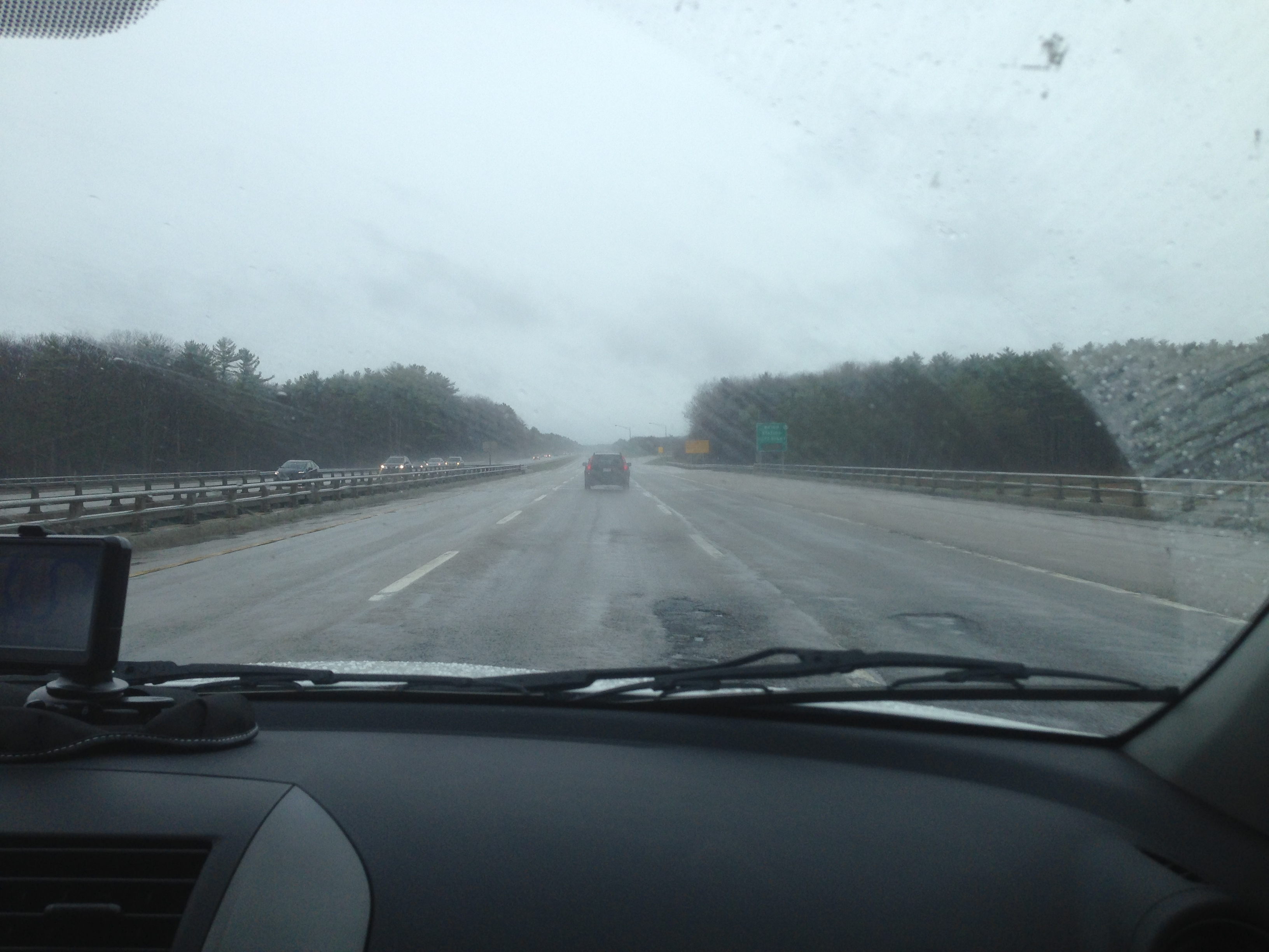 The dreary road to Ogunquit.