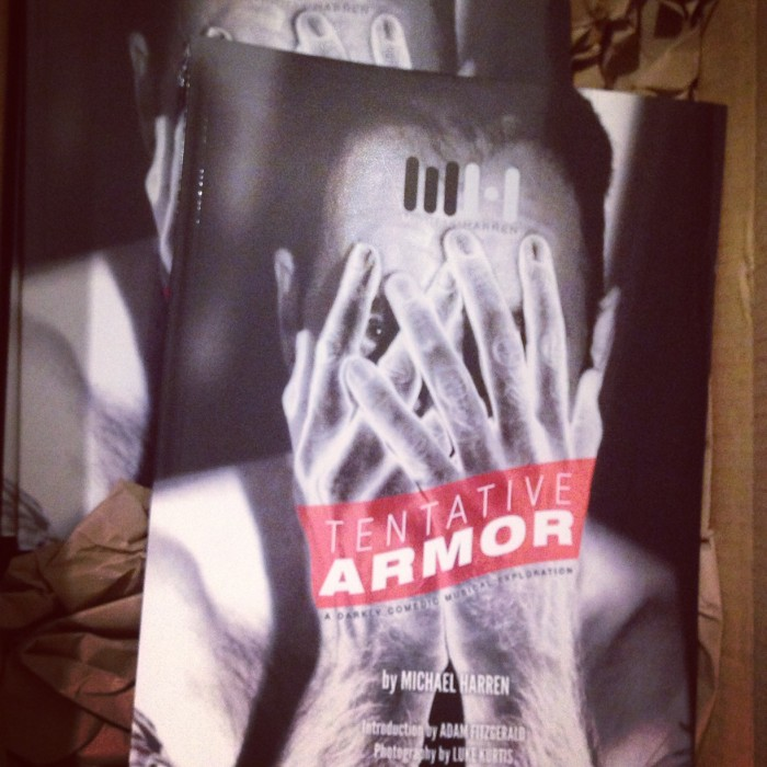 A big ol' box of Tentative Armor book waiting patiently for 10-14-14